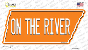 On The River Wholesale Novelty Tennessee Shape Sticker Decal