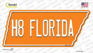 H8 Florida Wholesale Novelty Tennessee Shape Sticker Decal