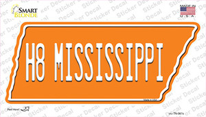 H8 Mississippi Wholesale Novelty Tennessee Shape Sticker Decal