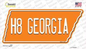 H8 Georgia Wholesale Novelty Tennessee Shape Sticker Decal