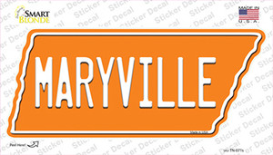 Maryville Wholesale Novelty Tennessee Shape Sticker Decal