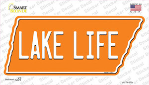 Lake Life Wholesale Novelty Tennessee Shape Sticker Decal