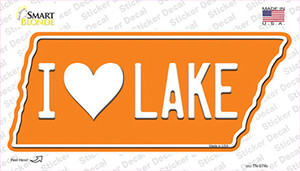 I Love Lake Wholesale Novelty Tennessee Shape Sticker Decal