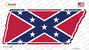 Confederate Flag Wholesale Novelty Tennessee Shape Sticker Decal