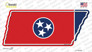 Tennessee Flag Wholesale Novelty Tennessee Shape Sticker Decal