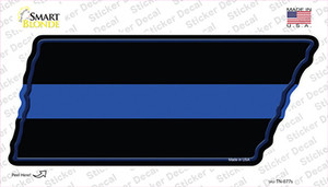 Thin Blue Line Wholesale Novelty Tennessee Shape Sticker Decal