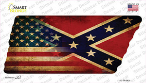 American Confederate Flag Wholesale Novelty Tennessee Shape Sticker Decal
