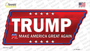 Trump Wholesale Novelty Tennessee Shape Sticker Decal