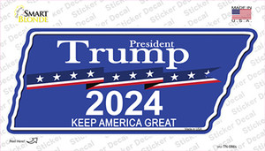 Trump 2024 Wholesale Novelty Tennessee Shape Sticker Decal