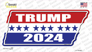 Trump 2024 Stripes Wholesale Novelty Tennessee Shape Sticker Decal