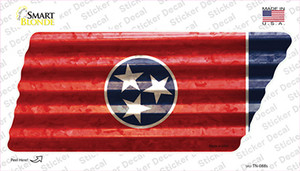 Corrugated Tennessee Flag Wholesale Novelty Tennessee Shape Sticker Decal