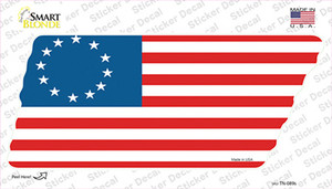 Betsy Ross American Flag Wholesale Novelty Tennessee Shape Sticker Decal