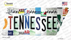 Tennessee Strip Art Wholesale Novelty Tennessee Shape Sticker Decal