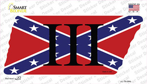 Confederate Three Percenter Wholesale Novelty Tennessee Shape Sticker Decal