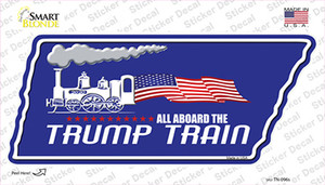 Trump Train Wholesale Novelty Tennessee Shape Sticker Decal