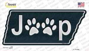 J**p Paws Wholesale Novelty Tennessee Shape Sticker Decal