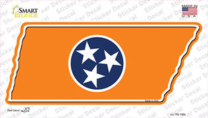 Orange Tennessee Flag Wholesale Novelty Tennessee Shape Sticker Decal