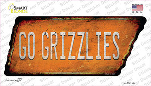 Go Grizzlies Wholesale Novelty Rusty Tennessee Shape Sticker Decal