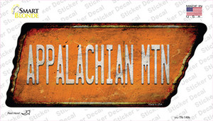 Appalachian Mtn Wholesale Novelty Rusty Tennessee Shape Sticker Decal