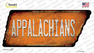 Appalachians Wholesale Novelty Rusty Tennessee Shape Sticker Decal