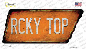 Rcky Top Wholesale Novelty Rusty Tennessee Shape Sticker Decal