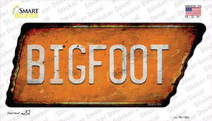 Bigfoot Wholesale Novelty Rusty Tennessee Shape Sticker Decal