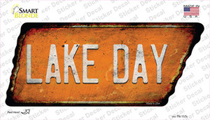 Lake Day Wholesale Novelty Rusty Tennessee Shape Sticker Decal