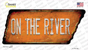 On The River Wholesale Novelty Rusty Tennessee Shape Sticker Decal