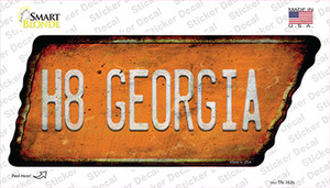 H8 Georgia Wholesale Novelty Rusty Tennessee Shape Sticker Decal