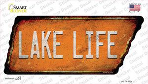 Lake Life Wholesale Novelty Rusty Tennessee Shape Sticker Decal