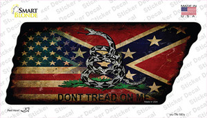 American Confederate Dont Tread Wholesale Novelty Rusty Tennessee Shape Sticker Decal