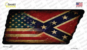 American Confederate Flag Wholesale Novelty Rusty Tennessee Shape Sticker Decal