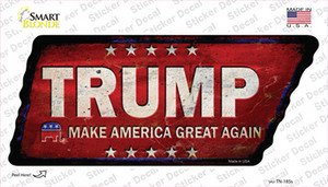 Trump Wholesale Novelty Rusty Tennessee Shape Sticker Decal