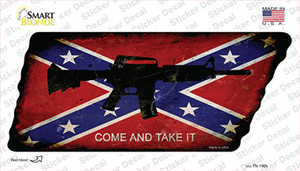 Come and Take It Wholesale Novelty Rusty Tennessee Shape Sticker Decal