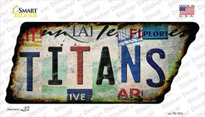 Titans Strip Art Wholesale Novelty Rusty Tennessee Shape Sticker Decal