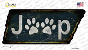 J**p Paws Wholesale Novelty Rusty Tennessee Shape Sticker Decal