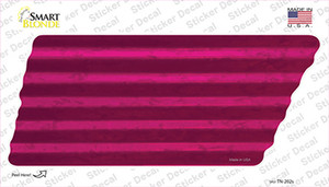 Pink Solid Wholesale Novelty Corrugated Tennessee Shape Sticker Decal