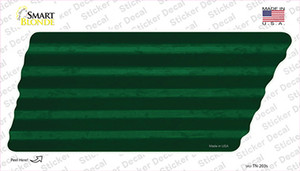 Green Solid Wholesale Novelty Corrugated Tennessee Shape Sticker Decal