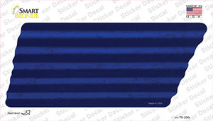 Blue Solid Wholesale Novelty Corrugated Tennessee Shape Sticker Decal