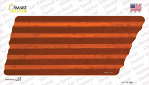 Orange Solid Wholesale Novelty Corrugated Tennessee Shape Sticker Decal