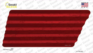 Red Solid Wholesale Novelty Corrugated Tennessee Shape Sticker Decal