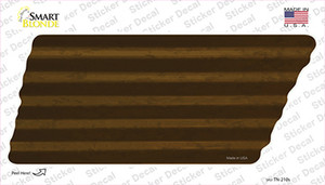 Brown Solid Wholesale Novelty Corrugated Tennessee Shape Sticker Decal