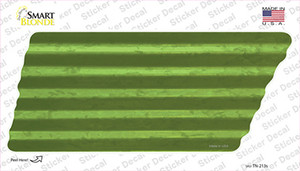 Lime Green Solid Wholesale Novelty Corrugated Tennessee Shape Sticker Decal
