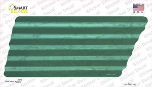 Teal Solid Wholesale Novelty Corrugated Tennessee Shape Sticker Decal