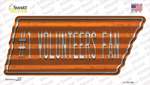 Number 1 Volunteers Fan Wholesale Novelty Corrugated Tennessee Shape Sticker Decal