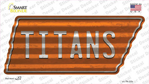 Titans Wholesale Novelty Corrugated Tennessee Shape Sticker Decal