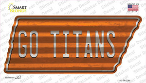 Go Titans Wholesale Novelty Corrugated Tennessee Shape Sticker Decal