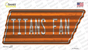 Titans Fan Wholesale Novelty Corrugated Tennessee Shape Sticker Decal