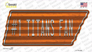 Number 1 Titans Fan Wholesale Novelty Corrugated Tennessee Shape Sticker Decal