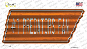 Number 1 Predators Fan Wholesale Novelty Corrugated Tennessee Shape Sticker Decal